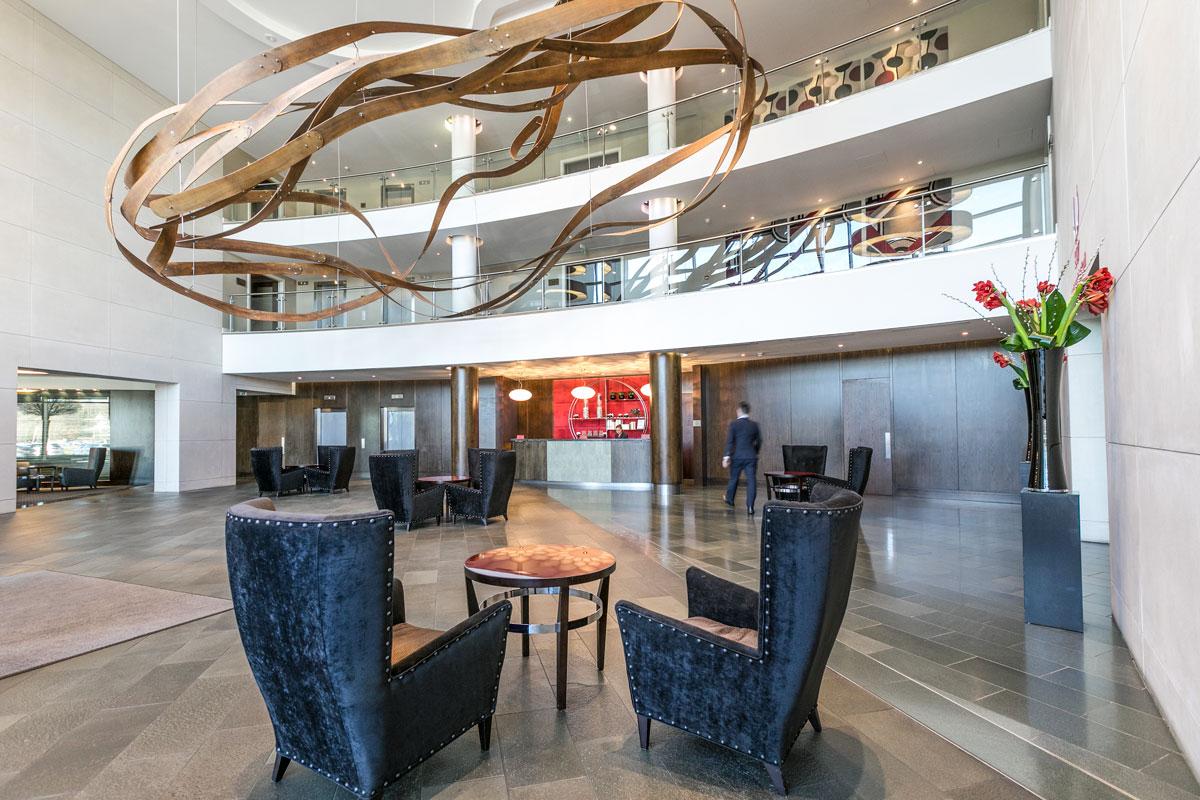 Brooklands Hotel Weybridge lobby holding