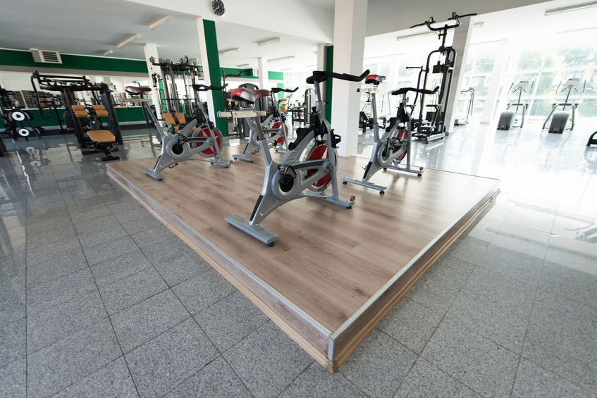 Botwell gym with equipment