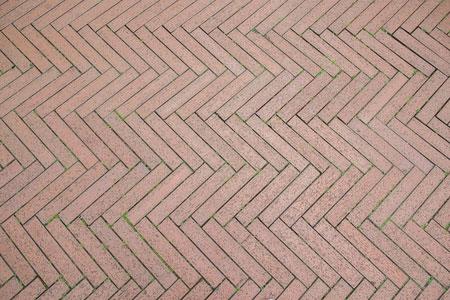herringbone stone floor